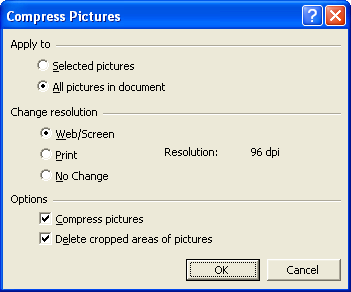 Powerpoint Compress Pictures Dialog