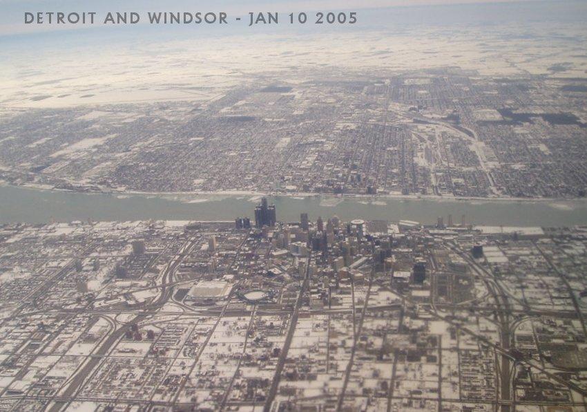 River City Motors >> Detroit and Windsor Aerial Photo