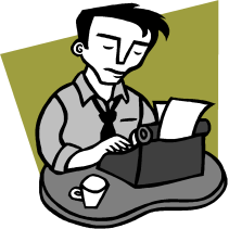 reporter on typewriter clipart.png